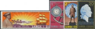 Samoa SG349-52 Cook's Exploration of the Pacific set of 4